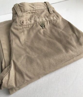 SCHOOL UNIFORM Boys Khaki Tan Adjustable Waist Pants Cherokee Size 10 LOT 2 Pair