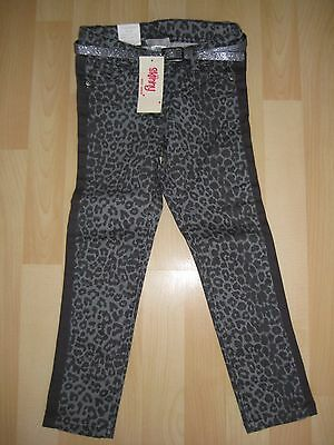 Girls Aged 5 Years Grey Leopard Print Skinny Trousers from Next Denim