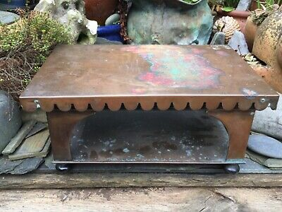 ANTIQUE/ EARLY 20thC VINTAGE ISLAMIC / ASIAN LARGE COPPER STOVE OR PLATE WARMER