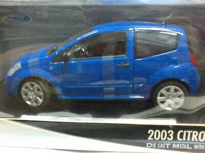 WOW EXTREMELY RARE Citroen C2 VTR 16V 122HP 2003 Riviera Blue 1:18 Welly