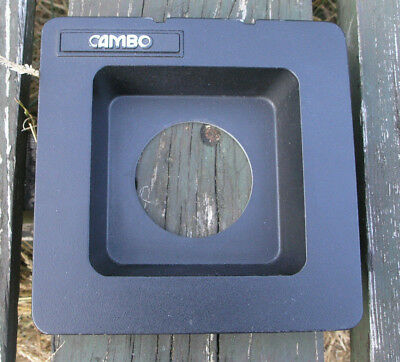 Cambo SC Monorail 10x8 5x4 30mm recessed lens board  65mm hole