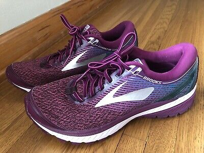 3e2f2282ab8 Brooks Women s Ghost 10 Running Shoes Purple Pink Teal White Size 10.5 EUC