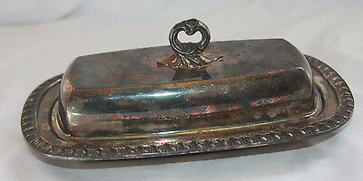 FB Rogers Silver Company Butter Dish With Glass Insert 1905