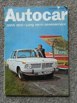 BMW 1800 Autocar magazine 18th November 1966