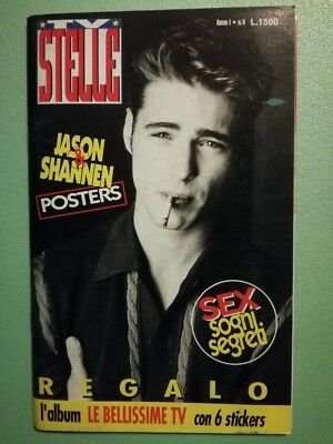 TV STELLE Anno 1 N°4 Priestly Downing Jr poster Doherty Cards Rivista 90210