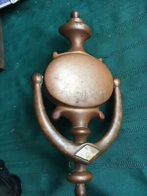 Vintage Antique Americana Door Knocker Solid Brass Heavy Large 9""