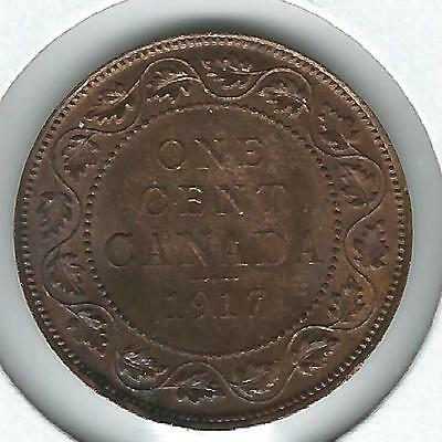 Canada Large Cent 1917 Choice Red/Brown Uncirculated