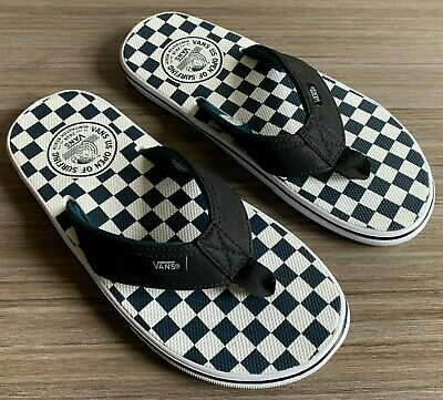 ea8003be3e73 Vans LA Costa Lite Ultracush Thong Sandals Checkerboard Flip Flops Size 11
