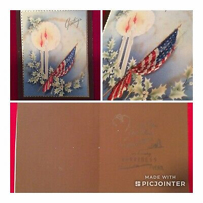 WWII US Soldier Unused Novelty Greeting Card~ Christmas Greetings (aG)