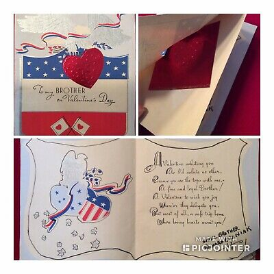 WWII US Soldier Novelty Greeting Card~A Valentine for a Brother (aUV)