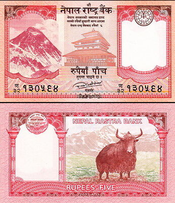 NEPAL - 5 rupees 2017 FDS - UNC Everest
