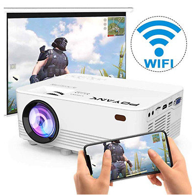 POYANK  TP-01 2500 Lumen Mini Projector 1080P 50,000 Hours LED Projector White