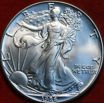 Uncirculated 1986 American Eagle Silver Dollar
