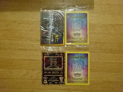 Rare Sealed Pokemon: The First Movie Ancient Mew Promo Card! Double Holo Foil!
