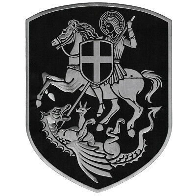 "Big St.george Cross Saint George Shield Embroidered Iron-On Patch 12"" Vegasbee®"