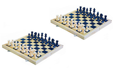 X2 New Folding 3in1 Wooden Board Game Set Chess,Checkers,Backgammon Free Postage