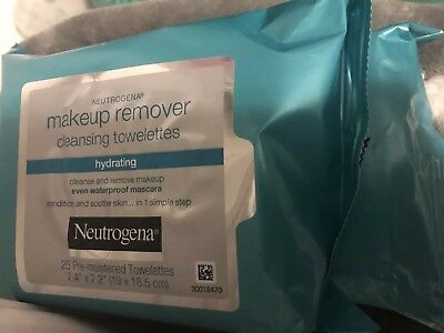 Neutrogena Makeup Remover Cleansing Towlettes- Hydrating-2 Packs-50 Total