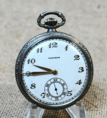 Watches, Parts & Accessories Jewelry & Watches 1924 Col.b Grade No.221 21j Works 1936 Waltham Open Face Pocket Watch 12s Model