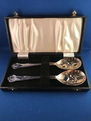 Vintage Sheffield Silver Co Balta Silverplate Berry/Casserole Serving Spoon Set