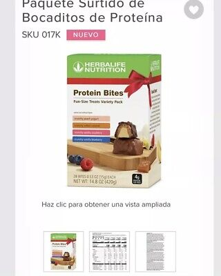 HERBALIFE NEW PROTEIN Bites Variety Pack Free Shipping