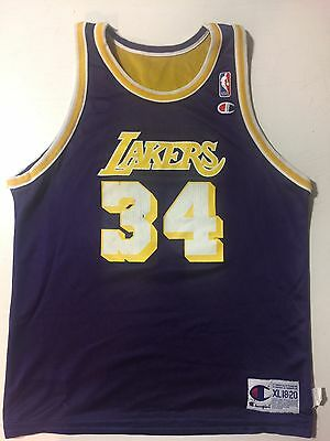 cbbecc1af Reversible Los Angeles Lakers Shaq Oneal Champion Vintage Jersey Youth Xl