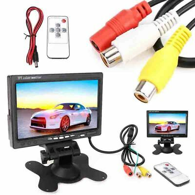 """7"""" inch 12V TFT LCD Screen Monitor 2 Video Input For Car Rear View Camera DVD"""