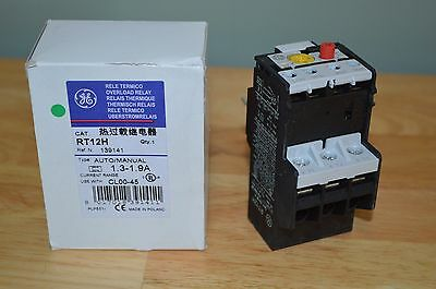 GENERAL ELECTRIC RT12H Overload Relay, Class 20, 1.3 to 1.9A G2344386.
