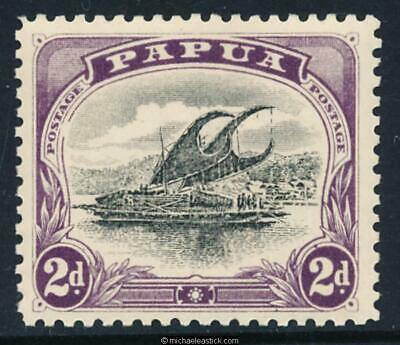 1908 Papua 2d Black and Purple. Small Papua.Wmk Upright Perf 11. SG 50 MH