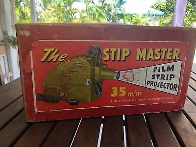 Collectable Vintage Boxed 1950s The Stip Master 35mm Projector