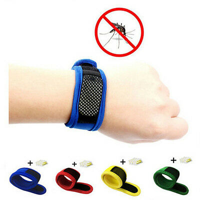 Anti Mosquito Insect Bug Repellent Bracelet Wrist Band Camping Outdoor New HU