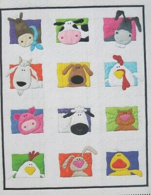 Animal Whimsy - fun pieced & applique quilt PATTERN from Amy Bradley - 2 designs