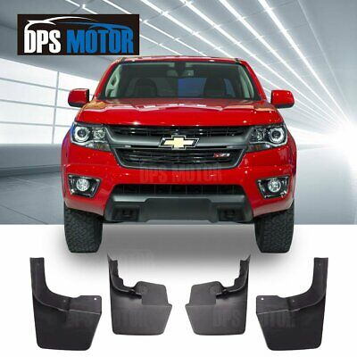 Chevy Colorado Mud Flaps 2015-2018 Guards Splash w//o Flares 4 Piece Front /& Rear