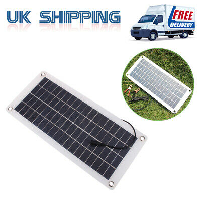 20W 12V Car Solar Panel Power Supply Trickle Battery Charger Boat Outdoor UK