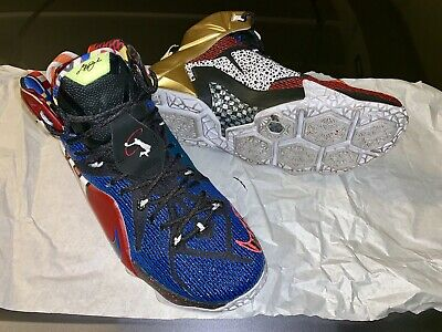 824fb124d2b LEBRON XII ALL Star Size 6.5 Same As Woman 8.0 New Rare White Black ...