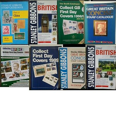 Stamp Catalogues 1975-2011 Used FDC GB Concise Gibbon & Other Publications Multi