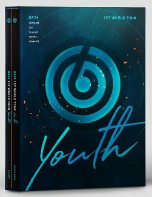 DAY6 1st World Tour [YOUTH] DVD +Photobook+Photocard+Postcard+Gift+Tracking no.