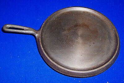 "Vintage cast iron crepe pan skillet grill pan 10.3/4"" wide made in Taiwan"