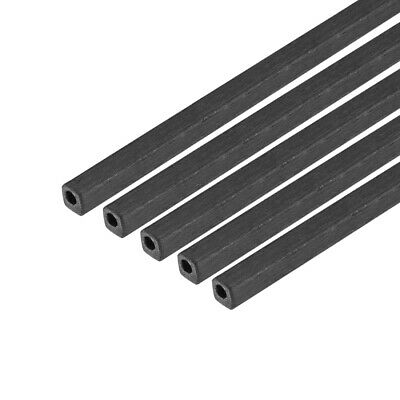 Carbon Fiber Square Tube 1.7x1.7x1mm ID 400mm Length Carbon Fiber Tubing 5 Pcs