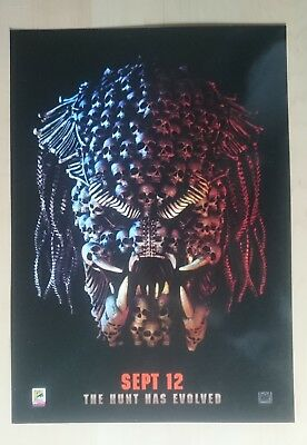 Exclusive Predator Movie Odeon / Comic Con A4 poster 2018 September 12th