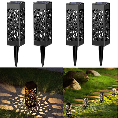8Pcs Vintage Solar Powered LED Garden Lights Automatic LED Patio Yard and Garden
