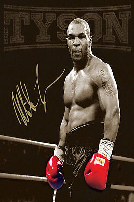 Mike Tyson Boxer Boxing Sports Silk Wall Poster Vintage 13x20 24x36 inch