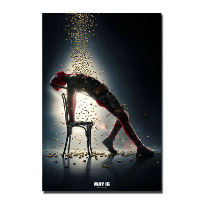 Deadpool 2 Movie Zazie Beetz Ryan Reynolds Art Silk Poster 13x20 32x48 inch