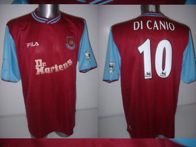 65866062715 West Ham United Paolo DI CANIO Italy Adult XL Shirt Jersey Football Soccer  Fila