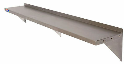 "STAINLESS STEEL WALL SHELF 1800 x 300 MM 72""x12"") WITH SCREWS & WALL PLUGS"