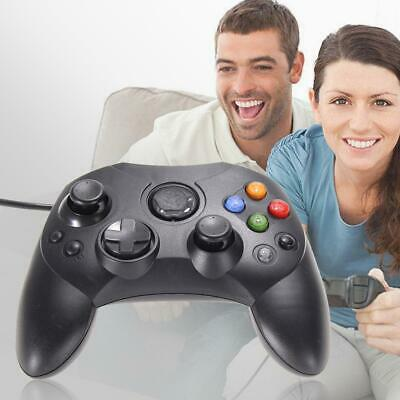 2pcs Black Original Dual Controller Wired Games Pad for Microsoft XBOX System UK