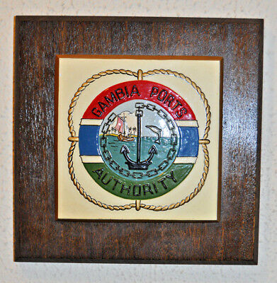 Gambia Ports Authority wall plaque
