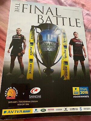 The Final Battle 2018 Rugby Programme Exeter Chiefs V Saracens Twickenham