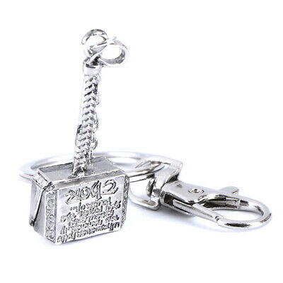 Marvel The Avengers Thor Thor's Hammer Metal Keyring Keychain Silver Color ES