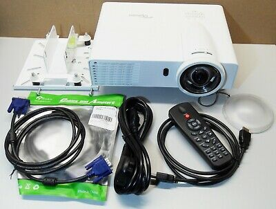 Optoma X306ST DLP 3200 lumen projector 3D.147 Lamp hrs used. +REMOTE+BAG+CABLES