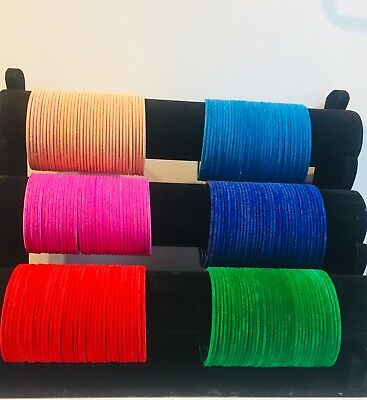 Costume Fashion velvet bangles indian bollywood 36 chudi chudiya kids & adult si